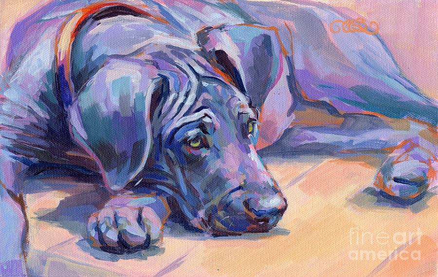 Great Dane Painting - Sigh by Kimberly Santini