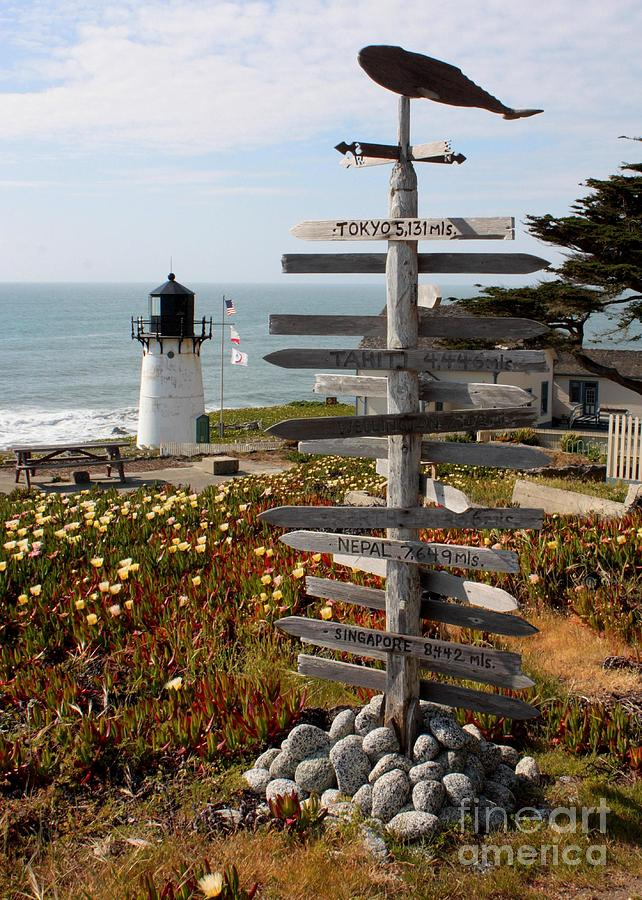 Sign At Point Montara Photograph  - Sign At Point Montara Fine Art Print