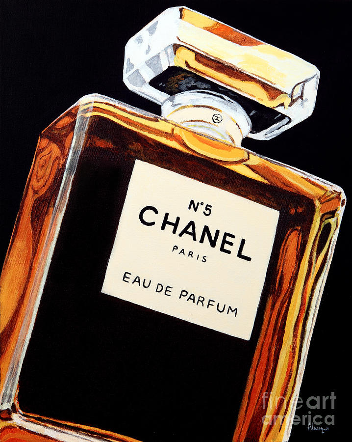 Chanel Painting - Signature Scent by Alacoque Doyle