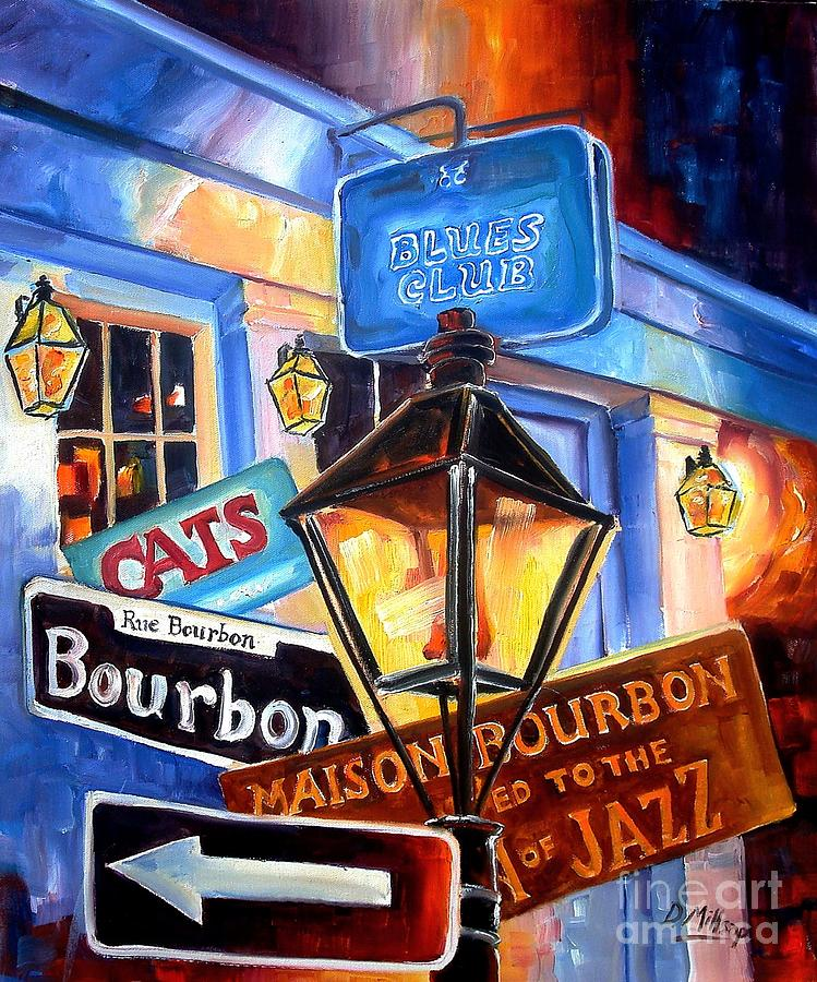 Signs Of Bourbon Street Painting  - Signs Of Bourbon Street Fine Art Print