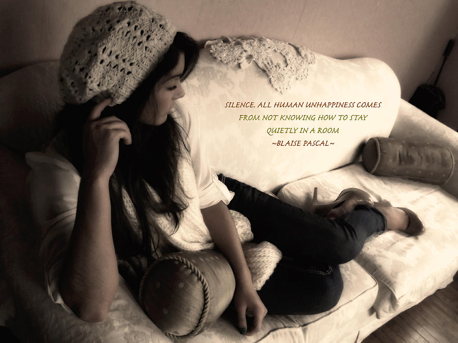 Quotes Photograph - Silence by Kristie  Bonnewell