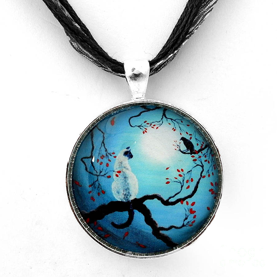 Handmade Jewelry - Silent Connection Pendant by Laura Iverson