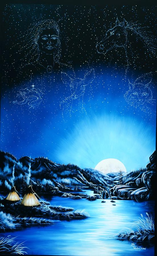 Native American Painting - Silent Mysteryiii by Lori Salisbury
