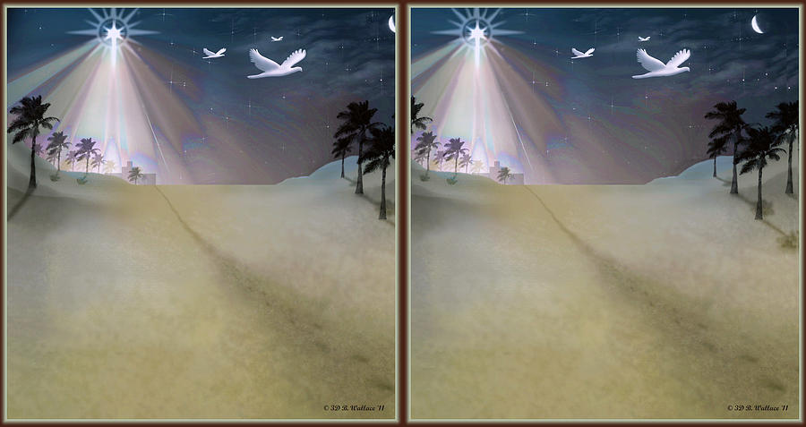 Silent Night - Gently Cross Your Eyes And Focus On The Middle Image Digital Art
