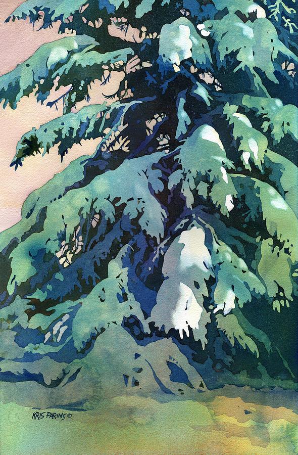 Kris Parins Painting - Silent Season by Kris Parins