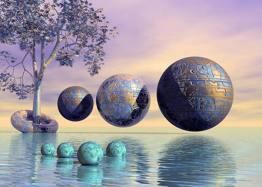 Silent Seven - Surrealism Digital Art  - Silent Seven - Surrealism Fine Art Print