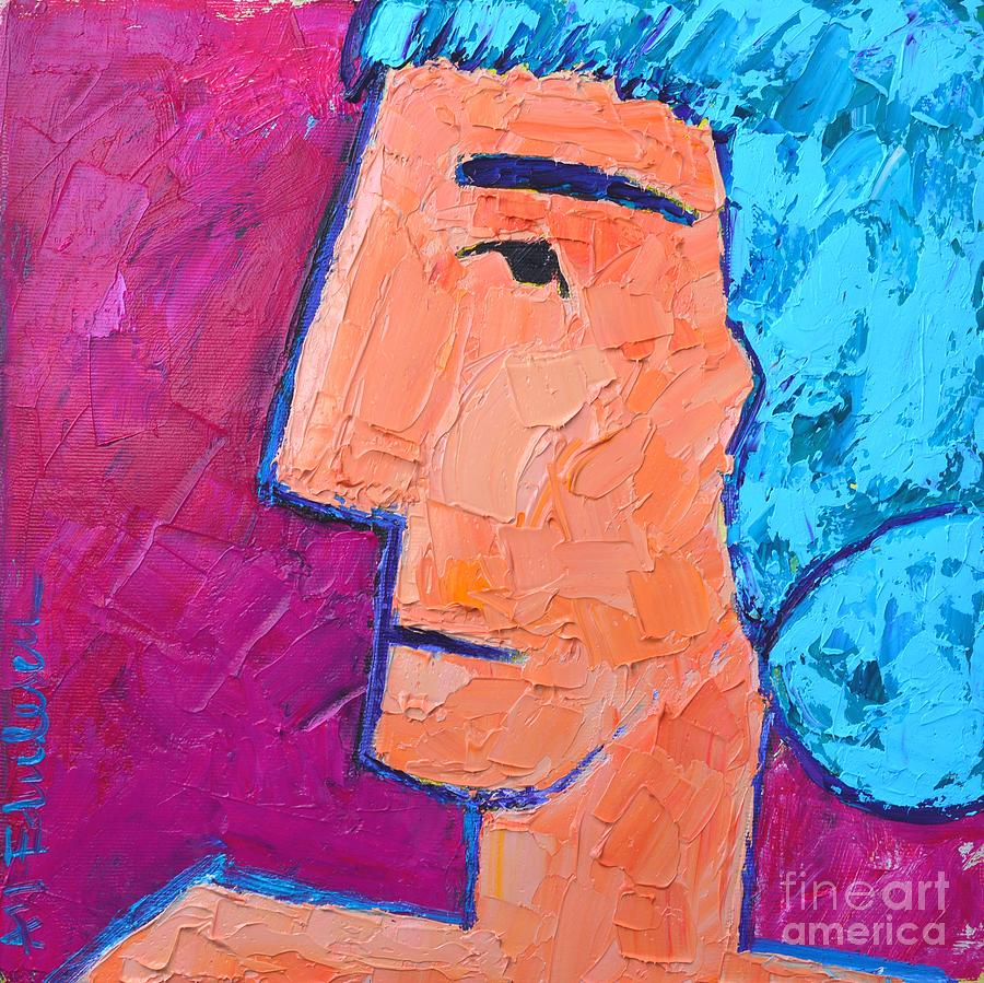 Portrait Painting - Silent Woman by Ana Maria Edulescu