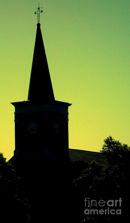 Photography Photograph - Silhouette Church by JoNeL Art