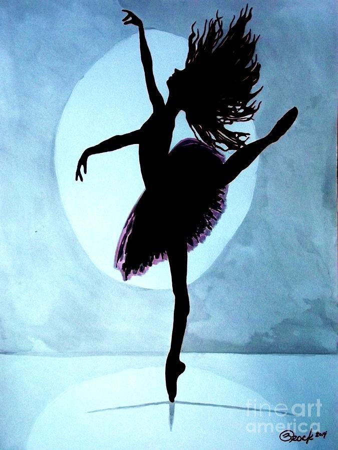 Lamp Dancer Silhouette Painting By Kyle Brock Artstation