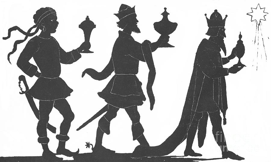 Silhouette Of Three Kings Painting