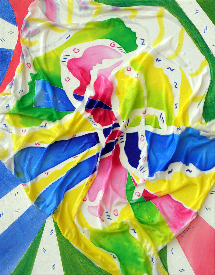 Silk Painting Painting - Silk Color Whirl by Sandra Fox