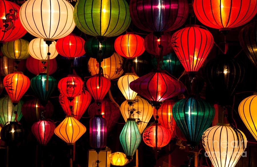 Silk Lanterns In Vietnam Photograph