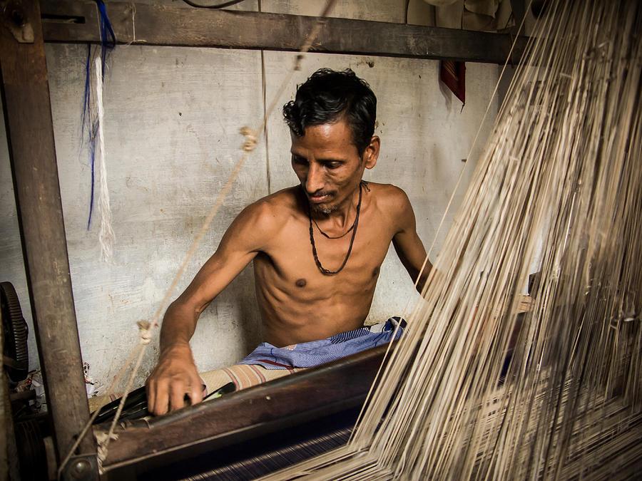Silk Loom Photograph