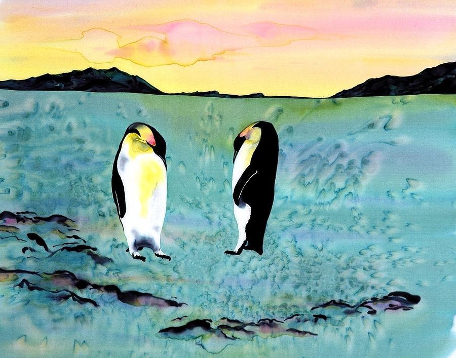 Silk Penguins Tapestry - Textile