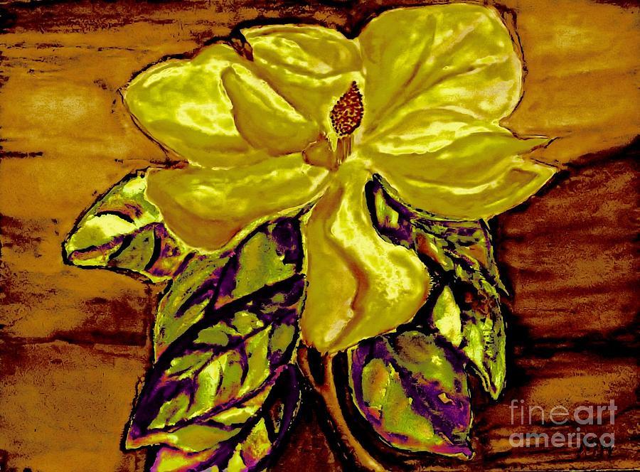 Silky Magnolia Painting