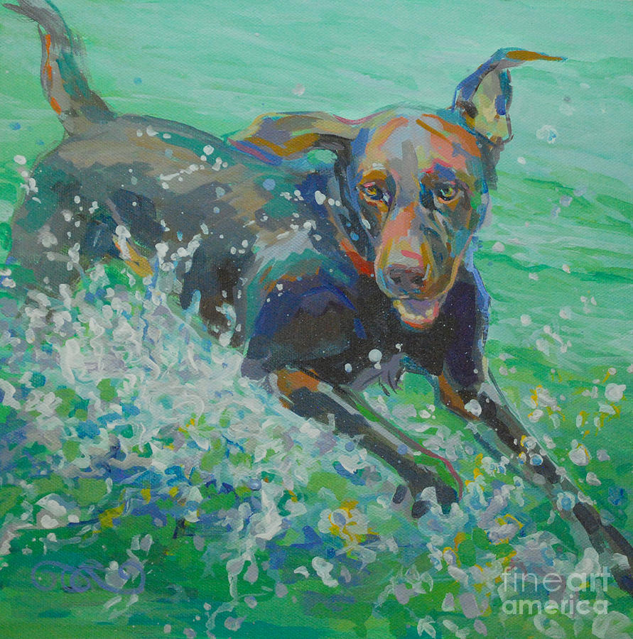 Water Dog Painting - Silly Goose by Kimberly Santini