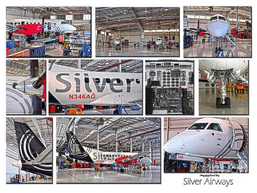 Silver Airways Large Composite Photograph  - Silver Airways Large Composite Fine Art Print