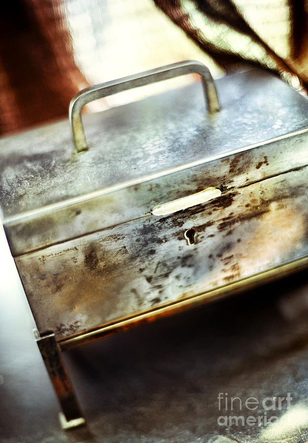 Still Life Photograph - Silver Box by HD Connelly