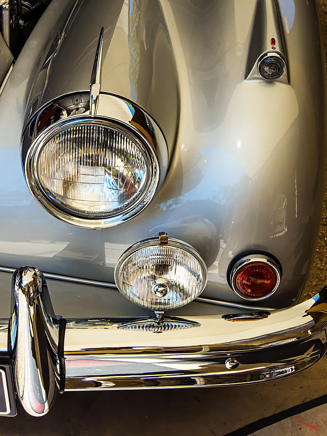 Silver Jaguar Xk 140 Photograph