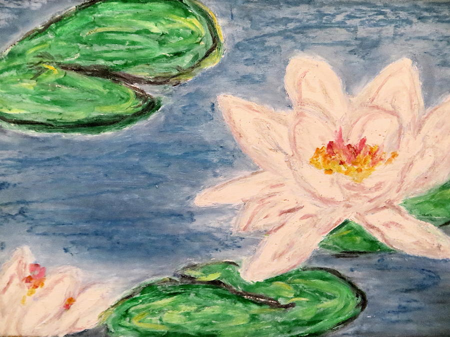Silver Lillies Pastel