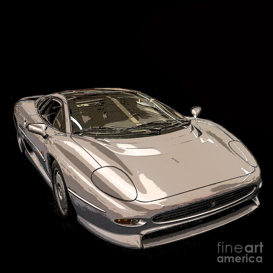 Poster Photograph - Silver Sports Car by Edward Fielding