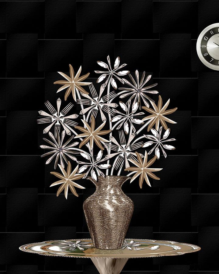 Silverware Bouquet Digital Art by Jerry Gulbransen