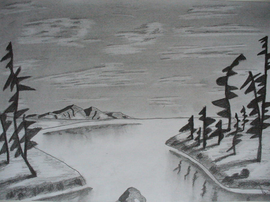 Simple Landscape Drawing by Jozef Arvay