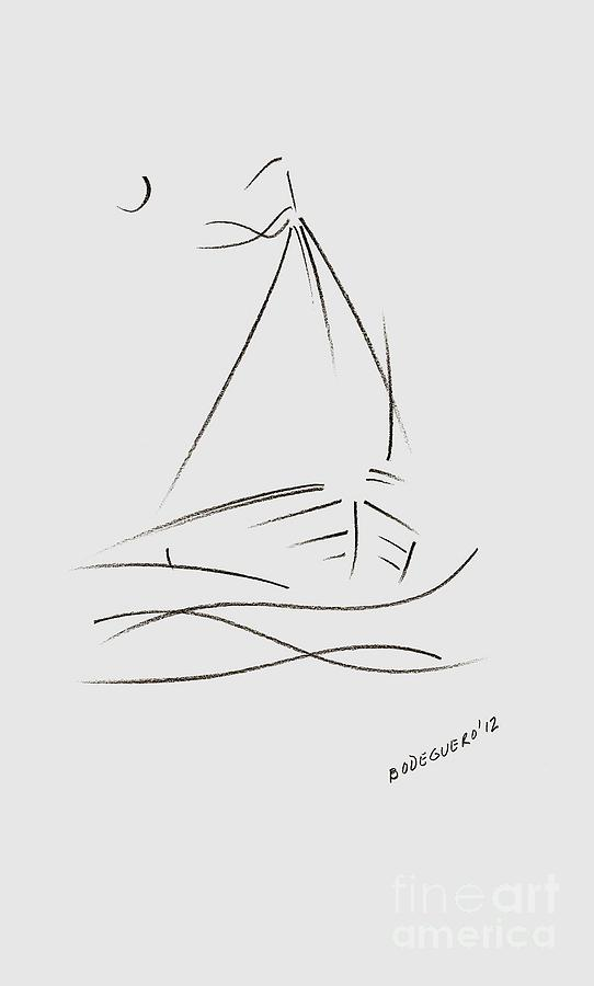 Art Line Yacht Design : Simple sailboat drawing by mario perez