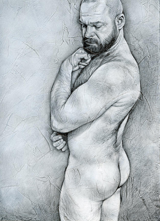 Male Drawing - Simplicity 4 by Chris Lopez