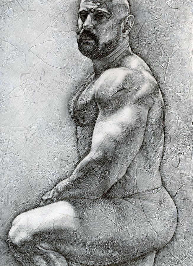 Male Drawing - Simplicity 5 by Chris  Lopez
