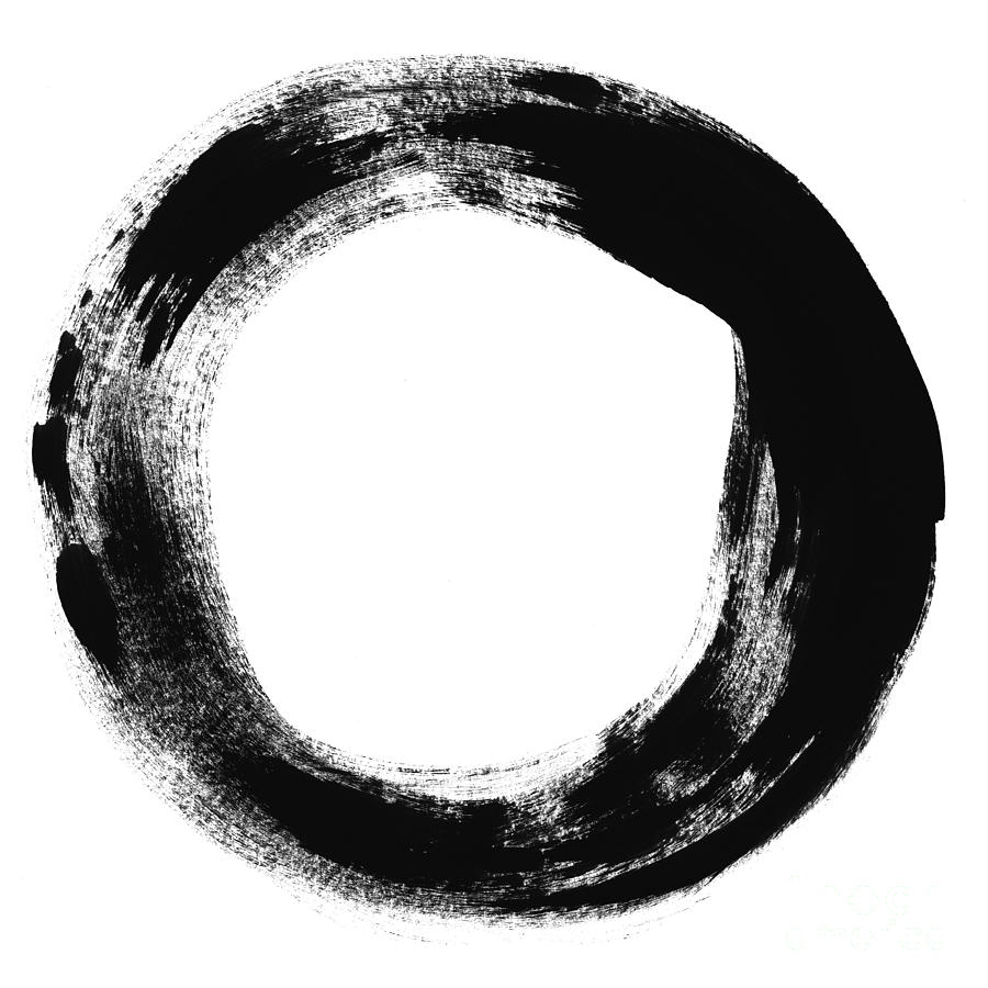 Enso Painting - Simplicity by Linda Woods
