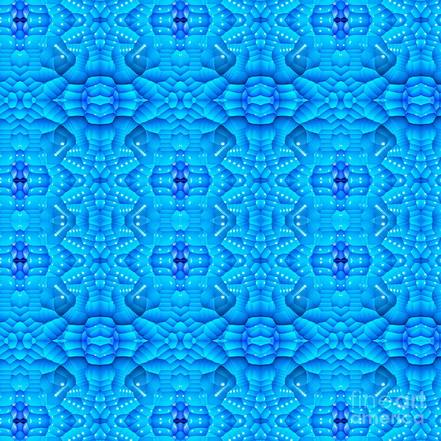 Simply Blue Digital Art  - Simply Blue Fine Art Print