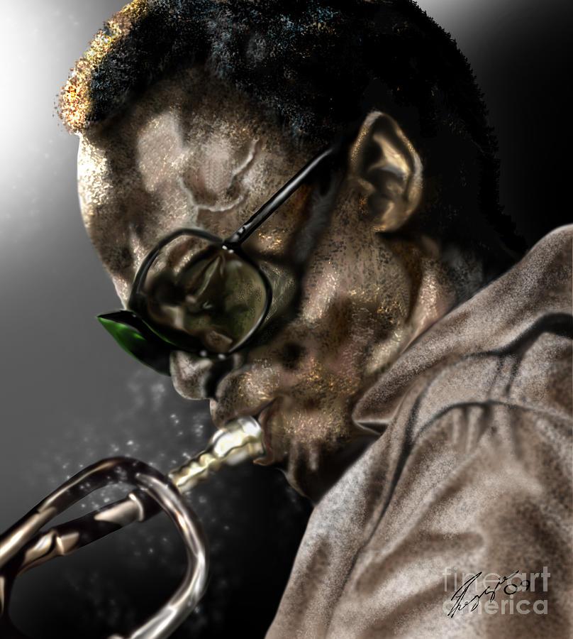 Miles Davis Painting - Simply Miles by Reggie Duffie