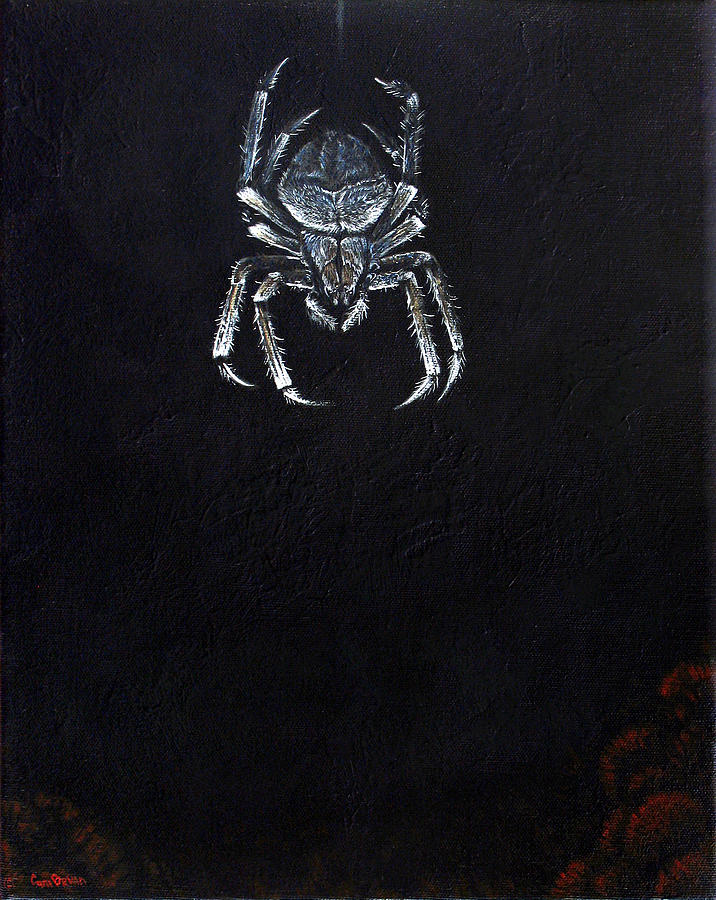 Simply Spider Painting  - Simply Spider Fine Art Print