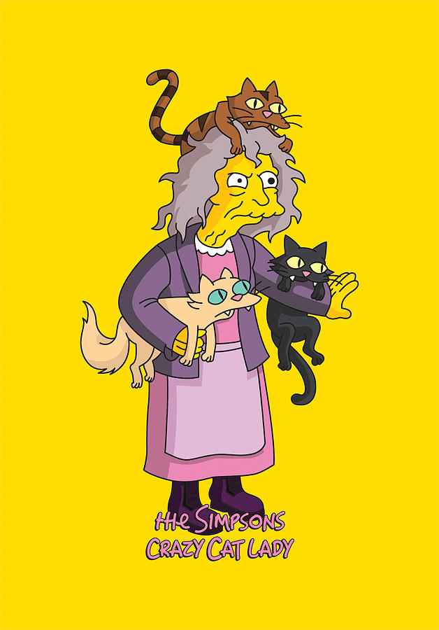 Crazy Cat Lady Video Simpsons