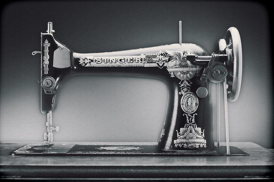 Singer Sewing Machine Photograph - Singer Machine by Kelley King