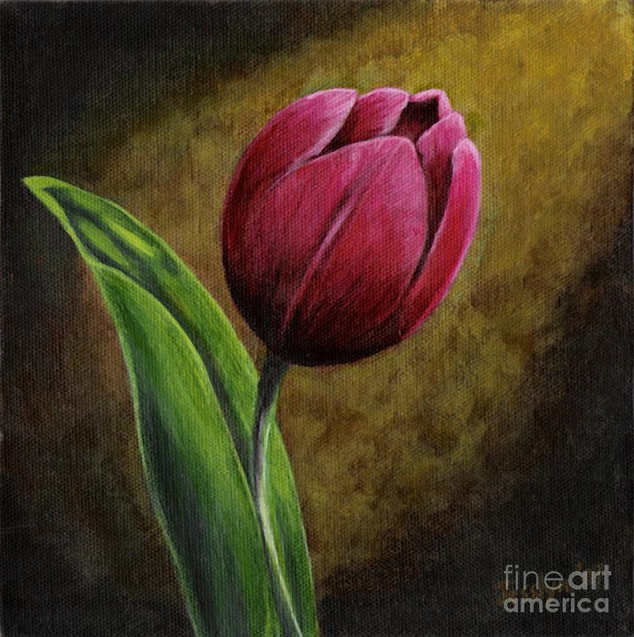 Single Tulip Painting  - Single Tulip Fine Art Print