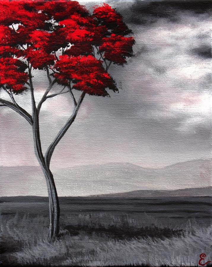 Singled Out Red Painting  - Singled Out Red Fine Art Print