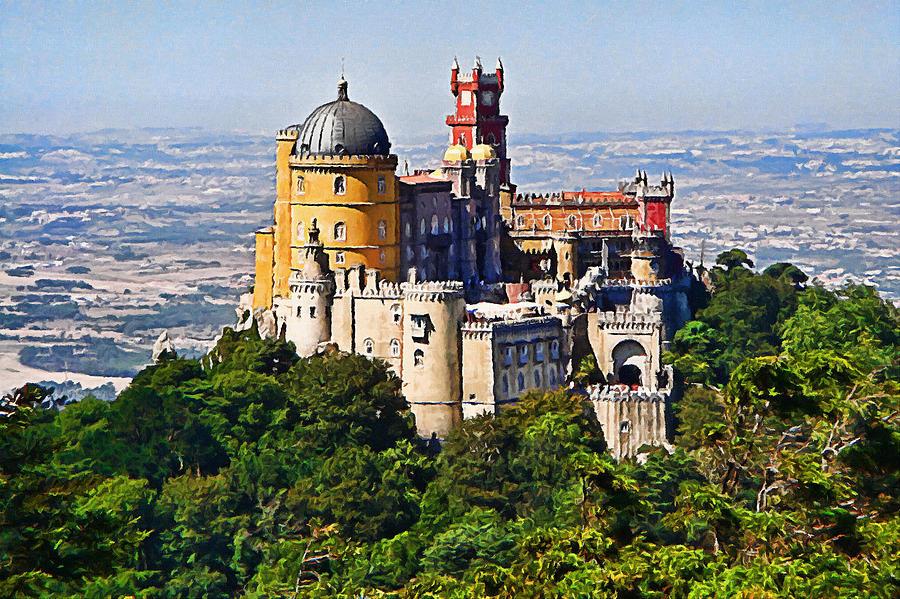 Digital Art - Sintra Pena Palace  Portugal by Jaime Alves