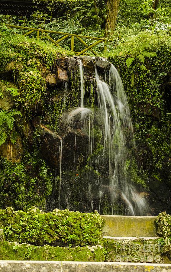 Sintra Photograph - Sintra Waterfall by Deborah Smolinske