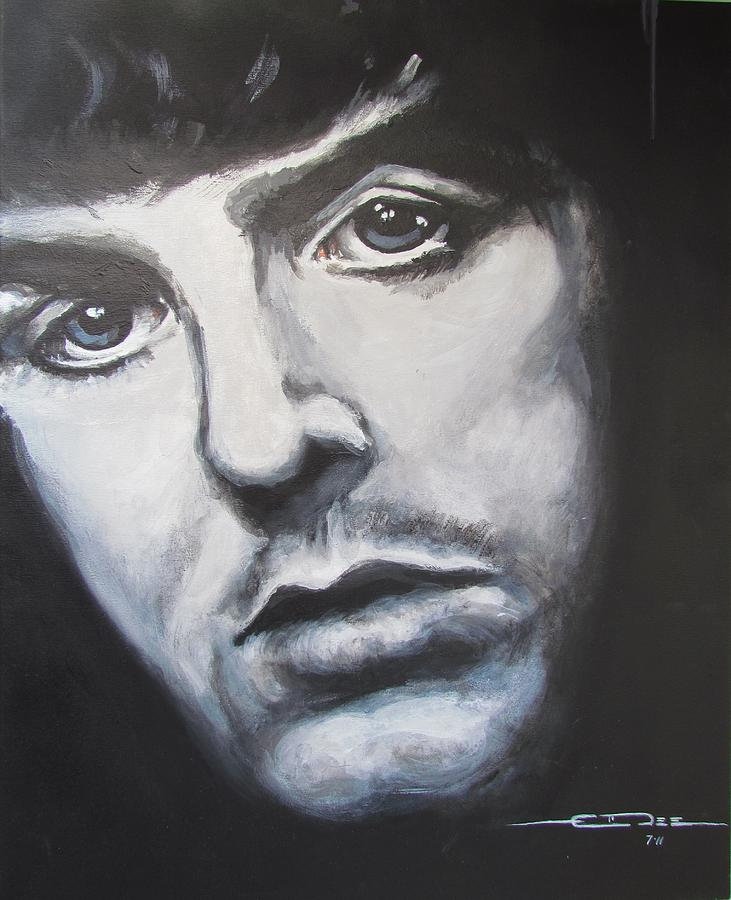 Sir Paul Mccartney Painting  - Sir Paul Mccartney Fine Art Print