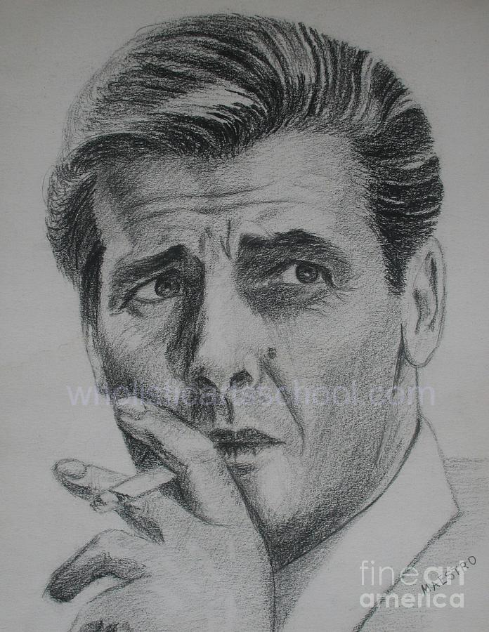 Sir Roger Moore 007 Drawing