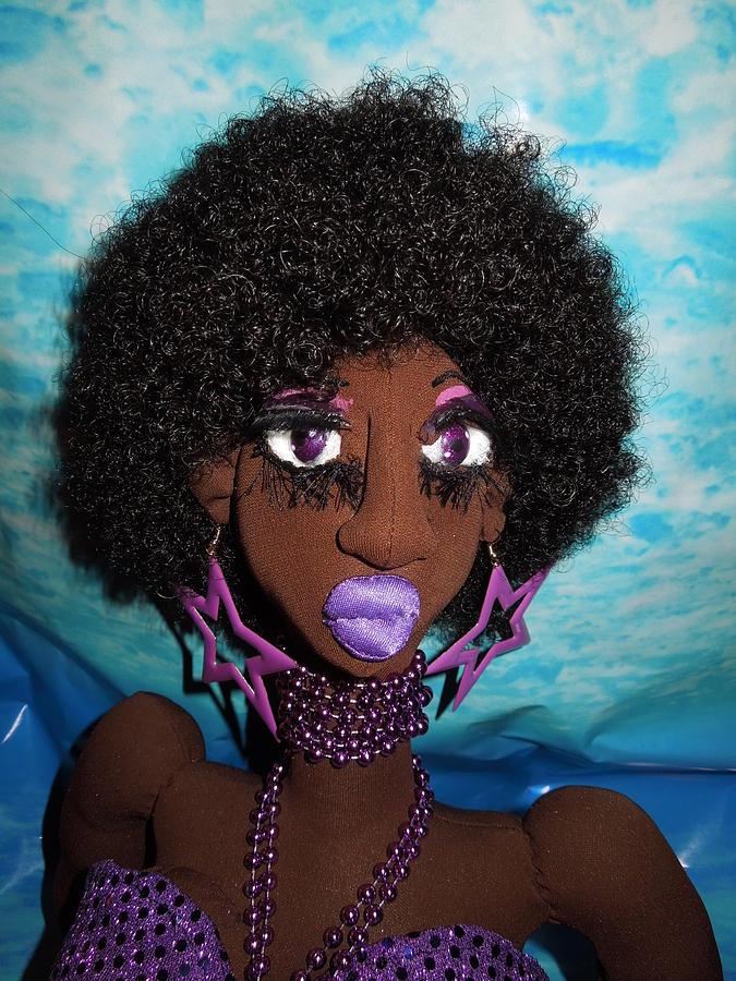 Siren Mermaid Purple Glory Sculpture by Cassandra George Sturges