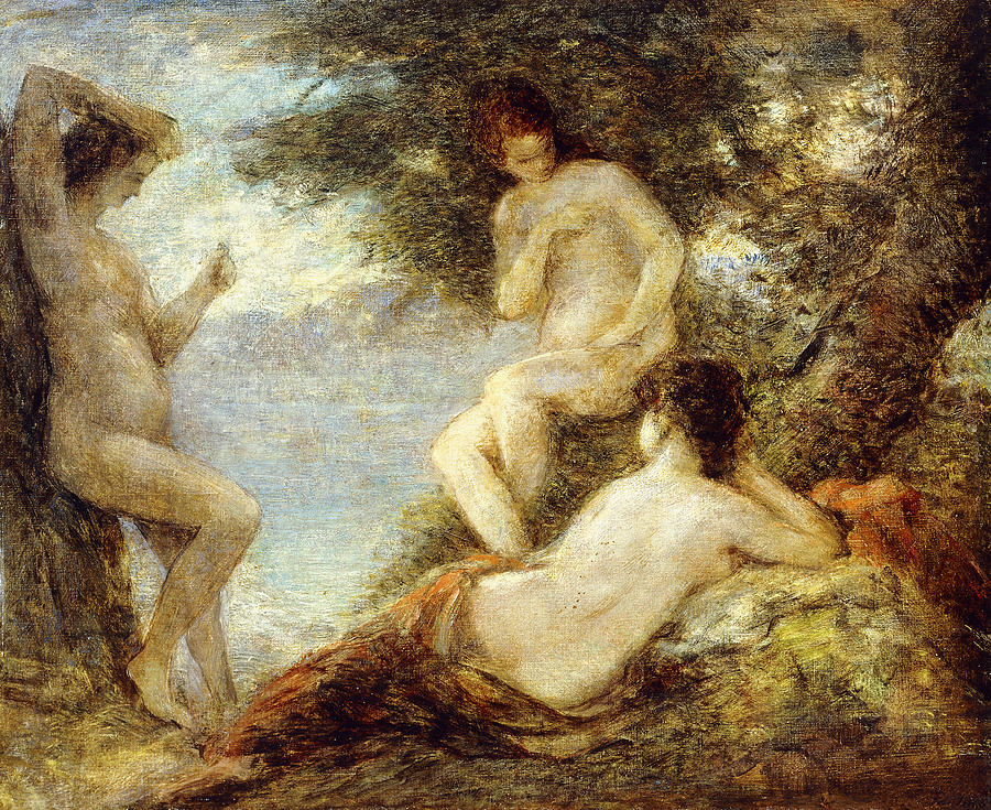 Below Painting - Sirens by Ignace Henri Jean Fantin-Latour