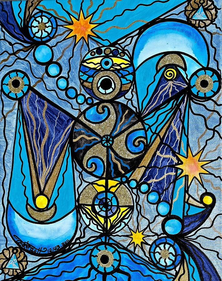 Vibration Painting - Sirius by Teal Eye  Print Store