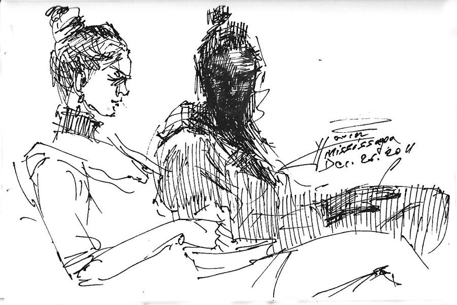 Sisters Drawing