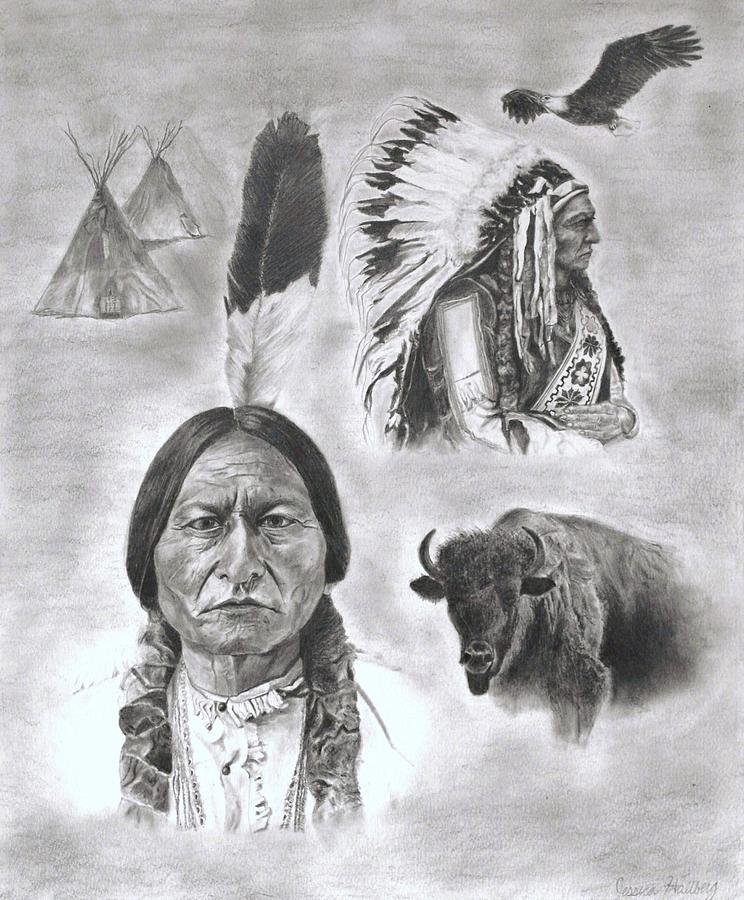 Sitting Bull Drawing  - Sitting Bull Fine Art Print