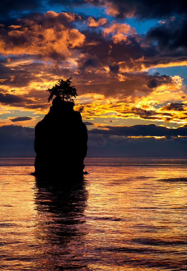 Siwash Rock Silhouette Photograph