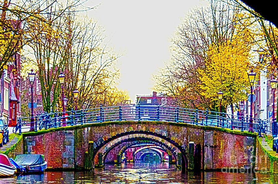 Bridge Digital Art - Six Bridges by Pravine Chester