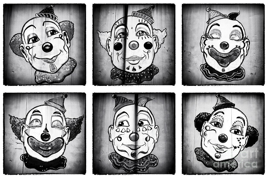 Six Clowns Photograph  - Six Clowns Fine Art Print